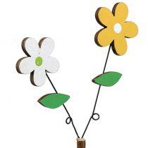Decoratieve plug hout bloem H44cm 6st