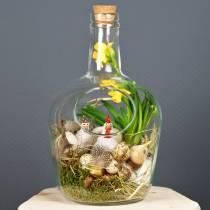 Glazen fles decoratief vat met kurk Ø19cm H30cm