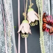 Decoratieve hanger metaal bloem 13cm 3st