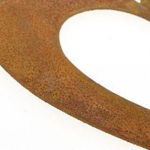 Hart roest decoratie hart tuin metaal 15cm 6st