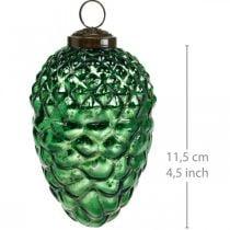 Adventdecoratie, decoratieve kegels, herfstvruchten van echt glas, antiek-look Ø7cm H11,5cm 6st