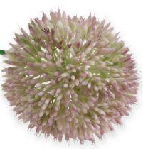 Allium zijde kunstbloem groen, roze sierui als kunstbloem