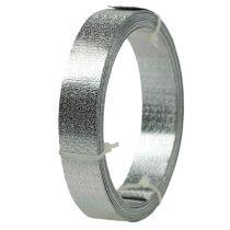 Aluminium lint platdraad zilver mat 20mm 5m