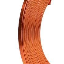 Aluminium platte draad oranje 5mm 10m