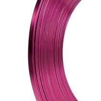 Aluminium platte draad roze 5mm 10m