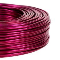 Aluminium draad Ø2mm 500g 60m roze
