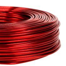 Aluminium draad Ø2mm 500g 60m rood