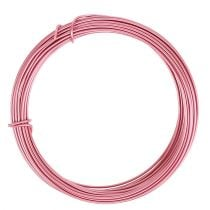 Aluminiumdraad roze Ø2mm 12m