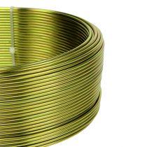 Aluminiumdraad Ø2mm olijfgroen 500g (60m)