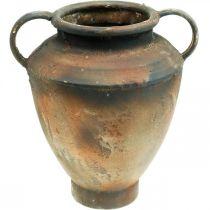 Amphora antieke look voor plantenvaas metalen tuindecoratie H29cm