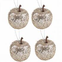 Deco mini appel glitter champagne boomversiering Ø3.5cm 24st