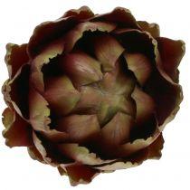 Artisjok groen, violet Ø12cm H13cm