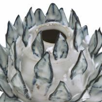 Decoratieve vaas art shock keramiek blauw, wit Ø9.5cm H9cm