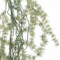 Asperge kunstslinger wit, grijs decoratiehanger 170cm