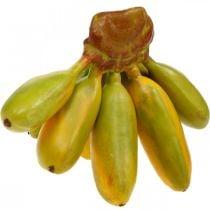 Kunstmatige bananenbos, decoratief fruit, babybananen L7–9cm