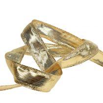 Band met draadrand goud 25m