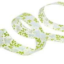 Decoratief lint met vlinders 25mm groen organzalint cadeau lint 20m