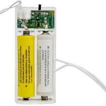 Batterij adapter 3Volt 2 x AA 3m wit