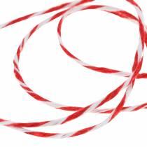 Snoer rood/wit 220m