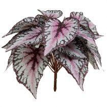 Kunstmatige begonia struik Bordeaux 37cm
