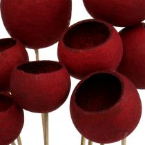 Bell Cup Mix op een stokje donkerrood 15st