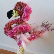 Steekschuim figuur Flamingo 70cm x 35cm