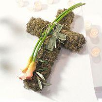 Steekschuim kruis klein zwart 42cm 4st begrafenis bloemisterij