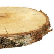 Berkenschijf naturel Ø30cm - 35cm