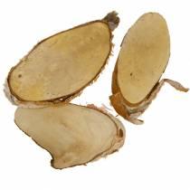 Houten plakjes berk ovaal natuurlijk 7,5 × 13 cm 1 kg
