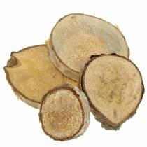 Berkenschijfjes rond naturel 5cm 1kg voor decoratie met schors
