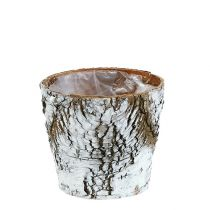 Berkenpot klein wit Ø10cm H8,5cm
