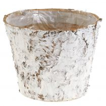 Decoratieve pot berken wit Ø18cm H15cm