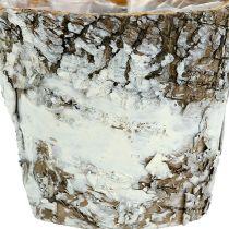 Berkenpot mini wit Ø7cm H7cm