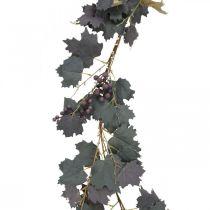 Decoratieve slinger wijnbladeren en druiven herfst slinger 180cm