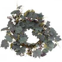 Decoratieve krans wijnbladeren en druiven Herfstkrans wijnstokken Ø60cm