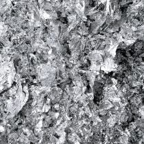 Bladmetaal schilfers zilver 15g