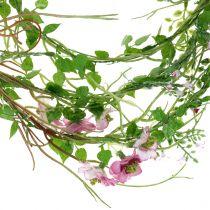 Bloemenslinger roze 180cm