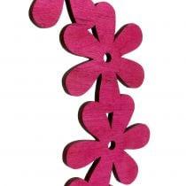 Bloem krans hout in roze Ø35cm 1 st