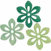 Verspreide bloemen groen, lentedecoratie, houtbloesems om te verspreiden, tafeldecoratie 72st