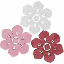 Houten bloemen kersenbloesems, strooi decoratie lente, tafeldecoratie, bloemen om te strooien 72st