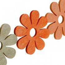 Bloemen om te strooien oranje, abrikoos, bruin strooi decohout 72st