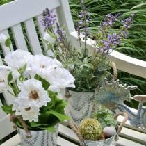 Bloemdecoratie lavendel in pot kunstplanten