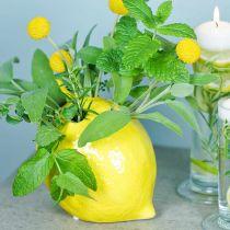 Bloemenvaasdecoratie citroenvaas keramiek zomerdecoratie H11.5cm