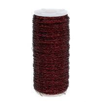 Bouillon effect draad Ø0.30mm 140m Bordeaux