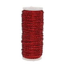 Bouilloneffect draad Ø0.30mm 100g / 140m rood