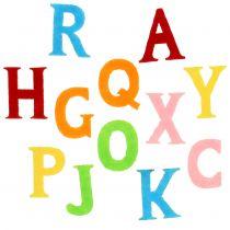 Letters gemaakt van vilt geassorteerde 2,5 cm - 3 cm 150 stks