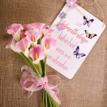 Calla decoratieve bloem roze 57cm 12st