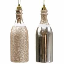 Champagnefles om licht goud op te hangen 10st
