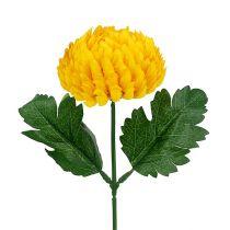 Chrysanthemum geel kunstmatig Ø7cm L18cm