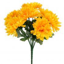 Chrysanthemum geel met 7 bloemen